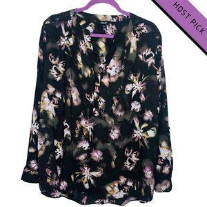 HP   NWT   Simply Vera Vera Wang Floral Blouse